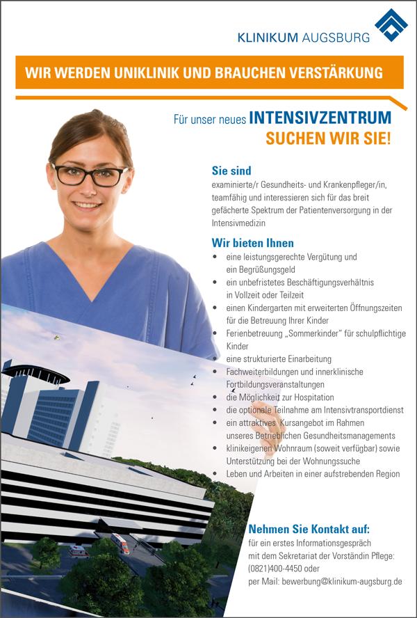 Gesundheits- und Krankenpfleger m/w - Klinikum Augsburg - in Augsburg - stellenecho.de
